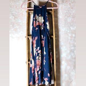 Kimchi Blue Navy Floral Flow Dress